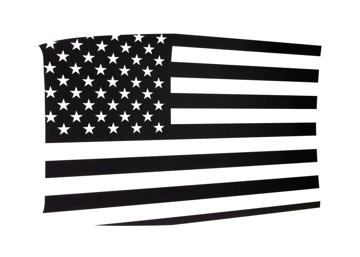 Challenger US Flag Decal