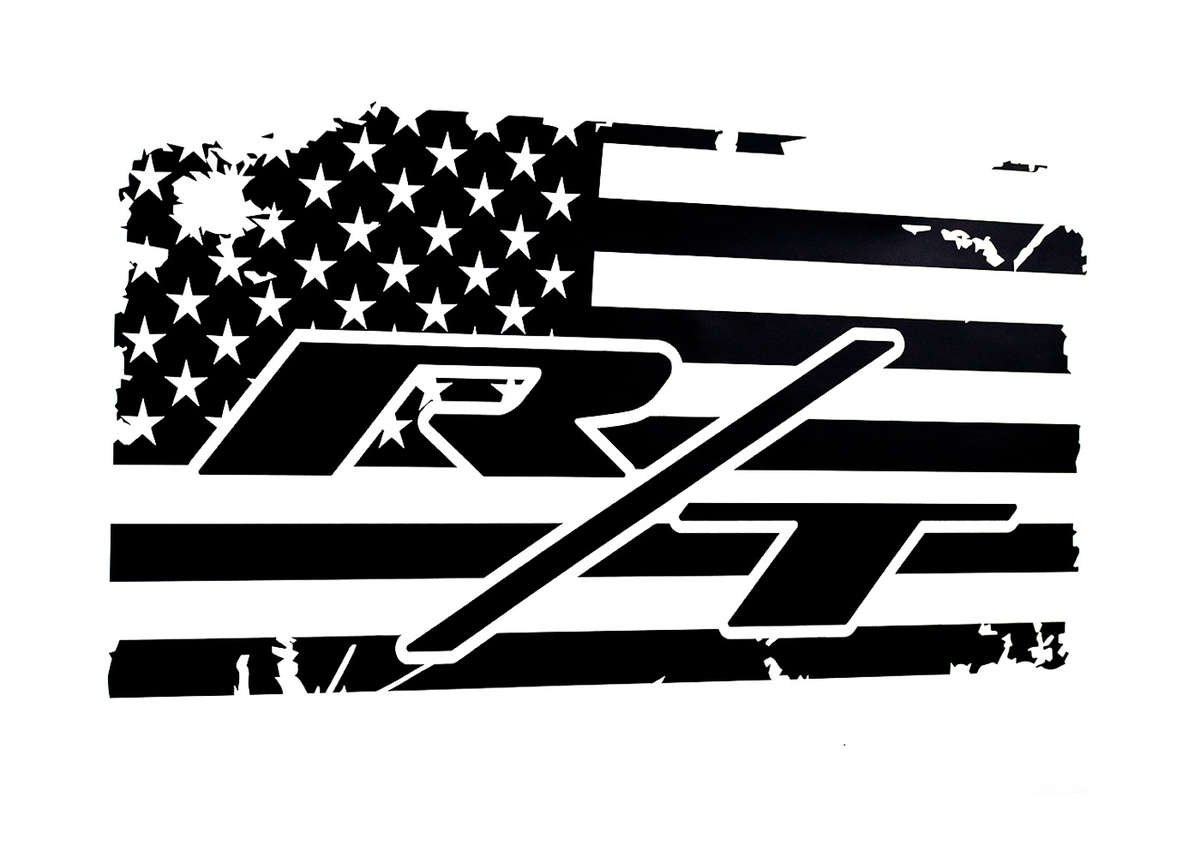 R/T Rear Window American Flag Decal