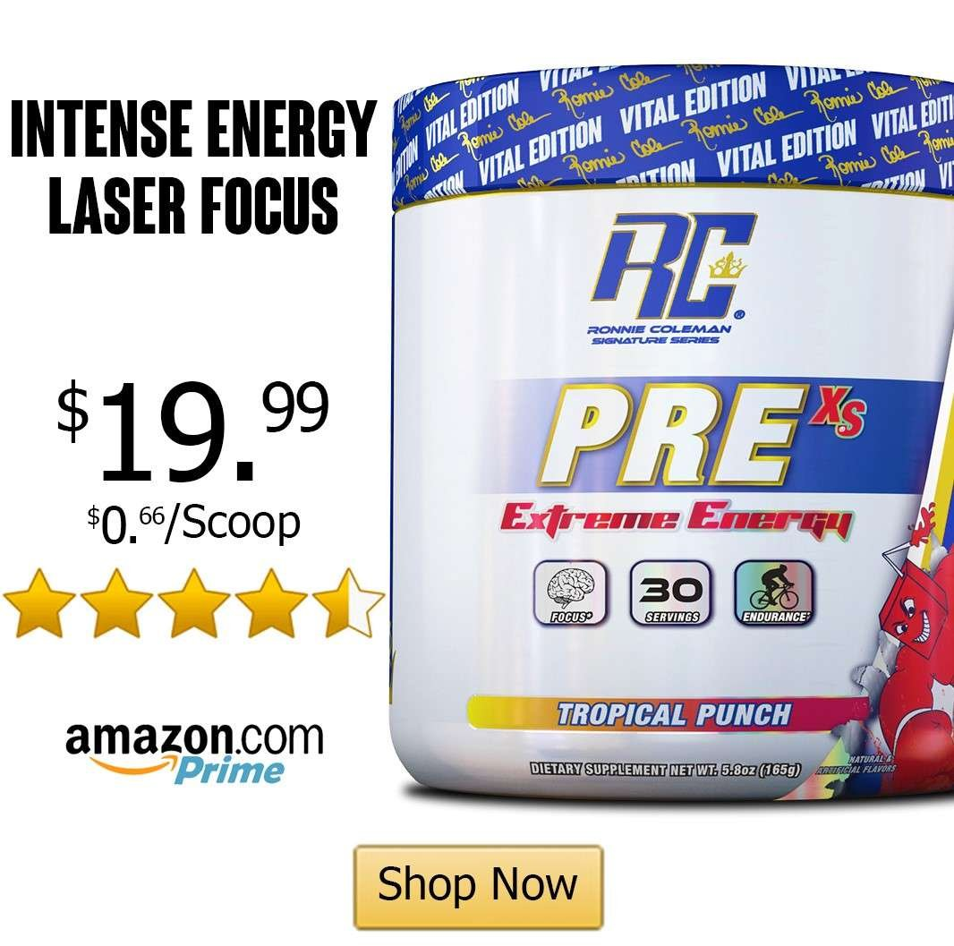 ronnie coleman pre workout powder on amazon pre xs extreme energy and focus