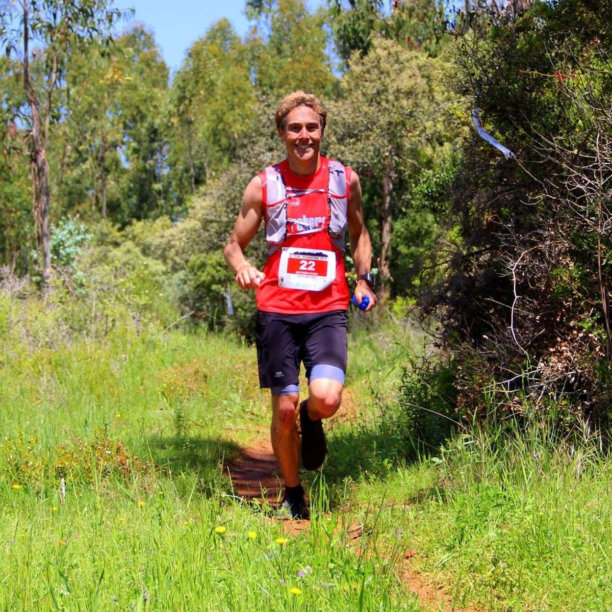 Co-founder Matt during his latest trail race