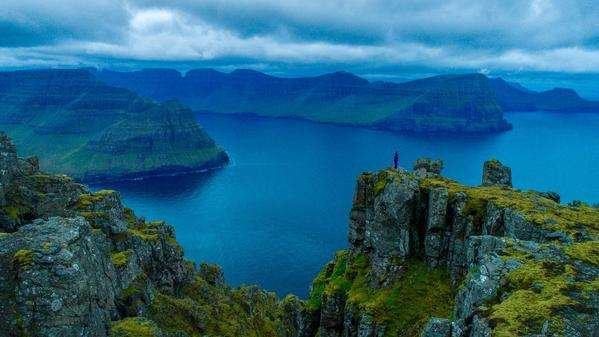 Beautiful lake Faroe Islands