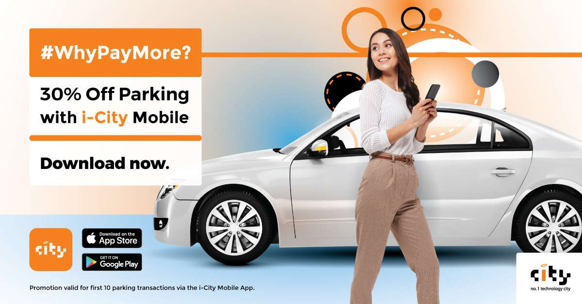 30% Off Parking with i-City Mobile App