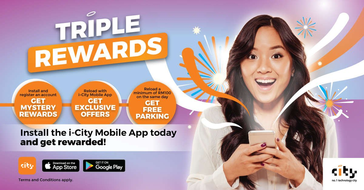 i-City Mobile App Triple Rewards