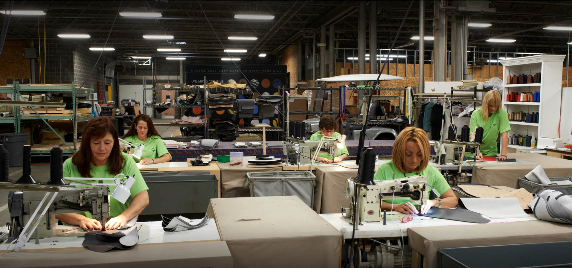 Manufacturing sewing operations