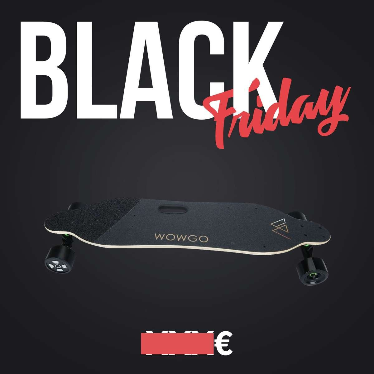 skate electrique black friday wowgo