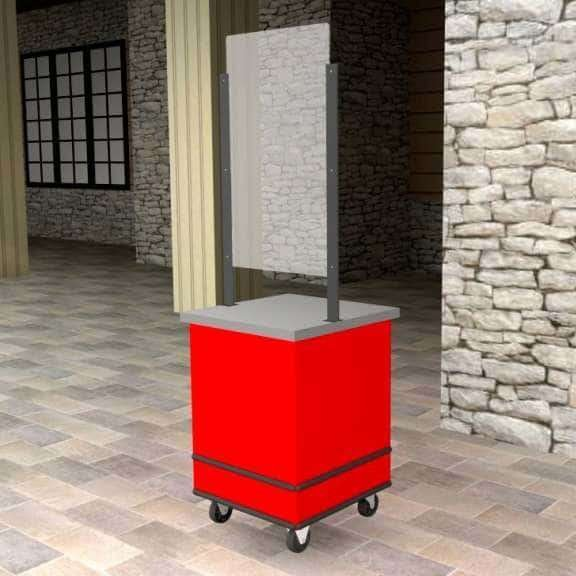 Mobile service counter | Social Distance product | The Marco Company