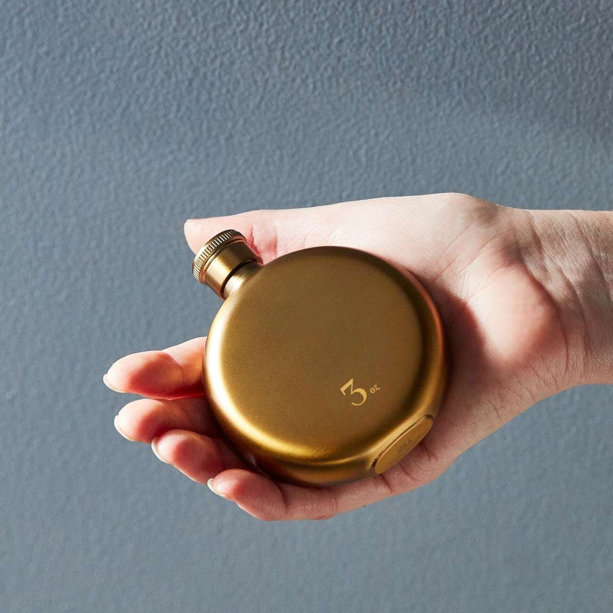 3 oz gold flask
